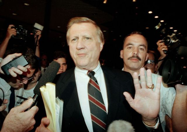 George Steinbrenner, III, owner of the New York Yankees, after his ban from baseball was announced.
